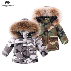 2020 marca casaco de inverno das crianças jaqueta para o bebê menino roupas de inverno camuflagem crianças à prova dwaterproof água engrossar neve wear