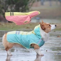 dog raincoat reflective raining coat for dogs clothes hoodie jumpsuit for dogs clothes for pets clothing dog raincoat waterproof