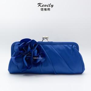 Kaiweili handmade flower hand bag retro cheongsam bag armpit bag silk cloth dinner bag ball evening dress bag