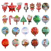 merry christmas spanish feliz navidad foil balloons helium balloons santa claus balls decorations new year ornaments 2022