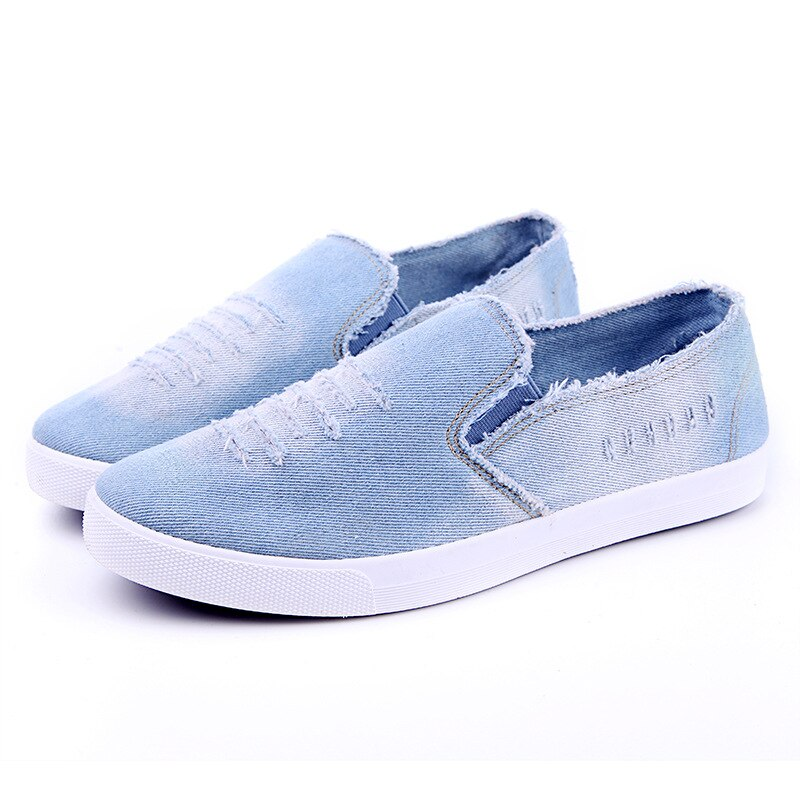 Nuevos zapatos xiangnai 2020 de verano para hombre, zapatos de tela vaquera informales con cordones transpirables, zapatos de lona planos para caminar, correr, Envío Gratis