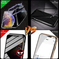 Защитное магнитное стекло для смартфона с антишпионским покрытием #3