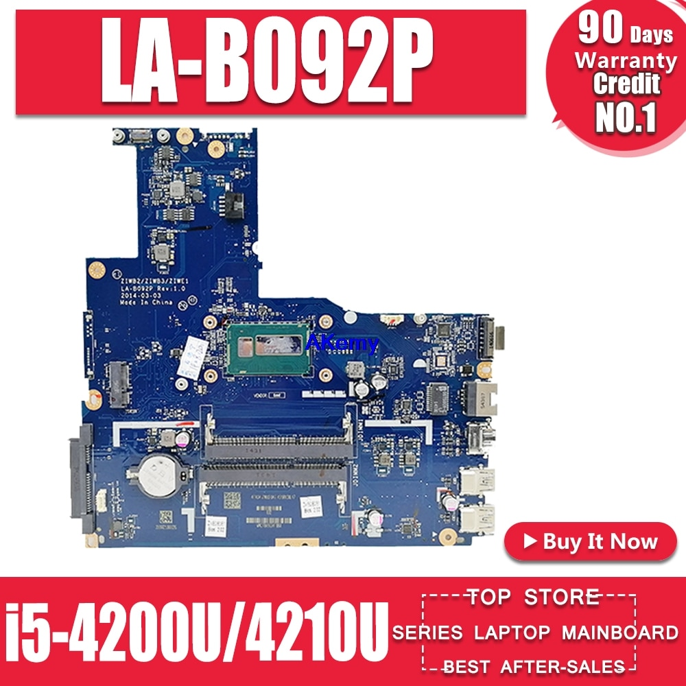 ZIWE1/ZIWB2/ZIWB3 LA-B092P لينوفو B50-70 N50-70 اللوحة i5-4200U/4210U CPU LA-B092P Rev: 1 اللوحة اختبار