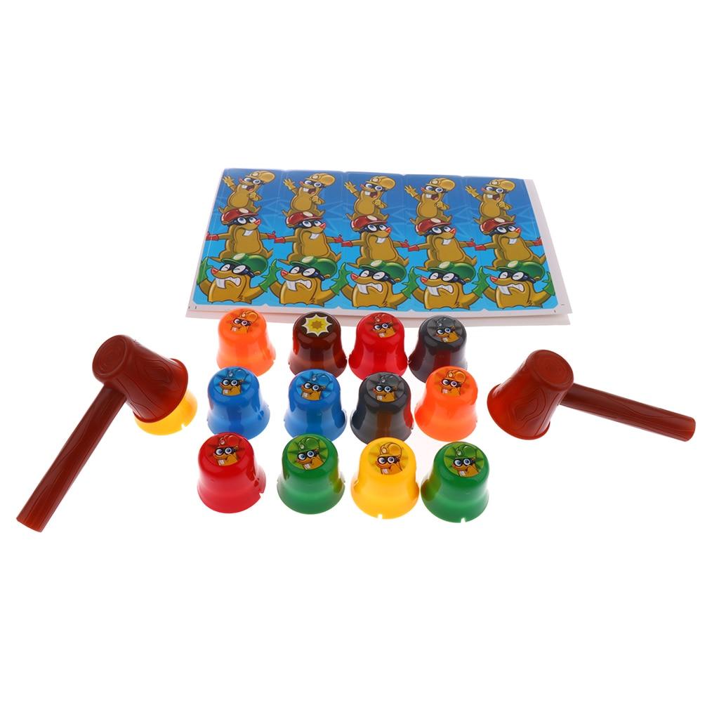 Творческий молоток моль стек чашки настольная игра дети рука глаз Координационная игрушка