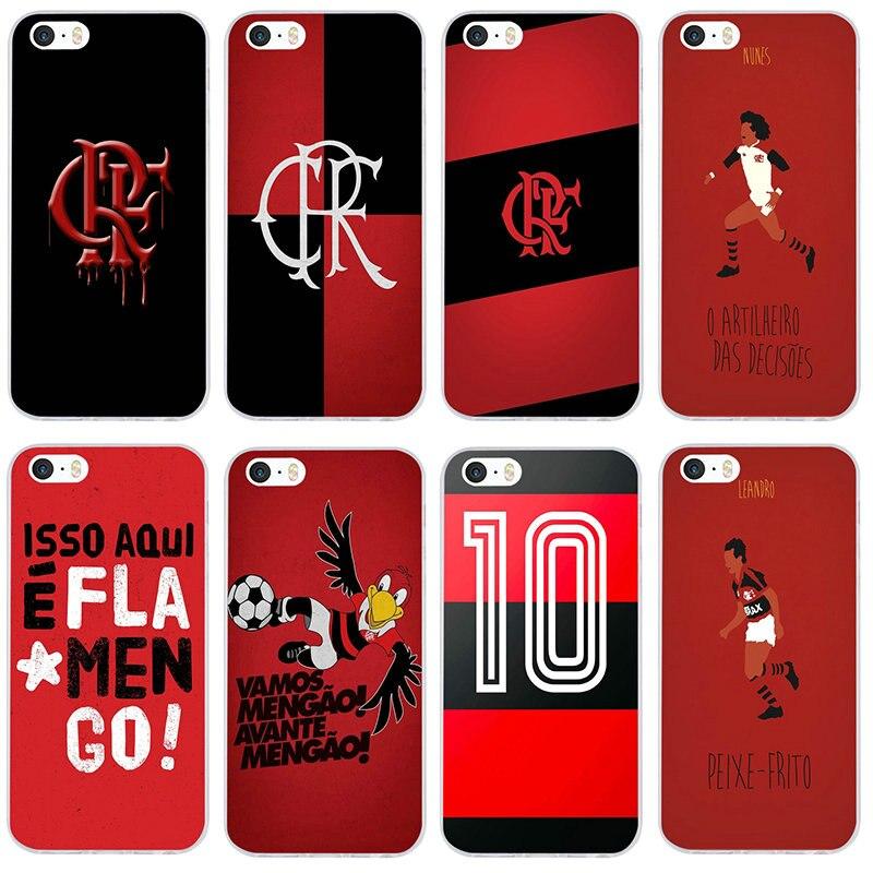 Clube De Regatas Do Flamengo Soft TPU Phone Case Cover for iPhone 8 7 6 6S Plus X XR XS 11 Pro Max 5 5S SE 5C 4 4S Cases