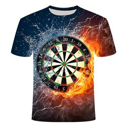2019 zomer beste 3d t camisas dartbord camiseta dardos gooien jogo grafische t t-shirts korte mouw designer camisas gota schip