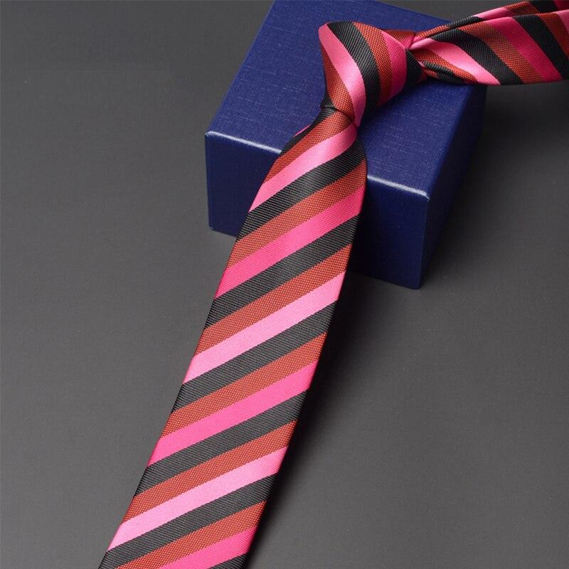 Classical Black Stripred Tie 2020 Brand New High Quality Men Business Work Necktie Fashion Formal 6CM Slim Ties For Men