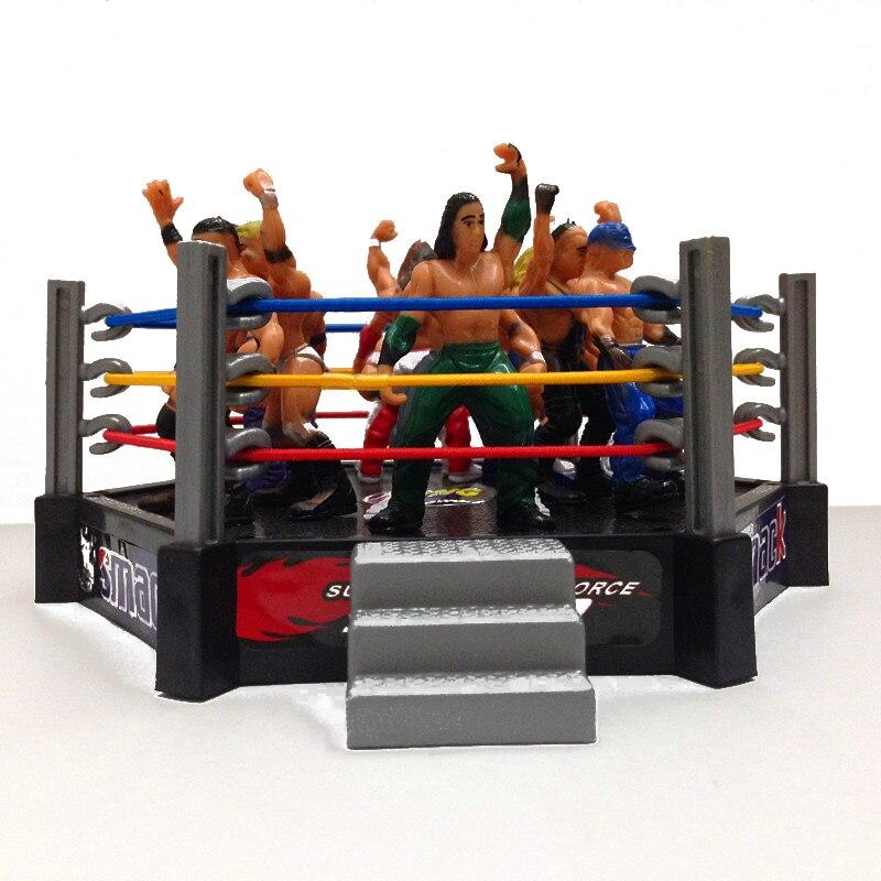 Clásico gimnasio de lucha libre Club Deportivo el luchador figura de atleta edificio luchador modelo de Arena gladiadores luchador acción figura de juguete