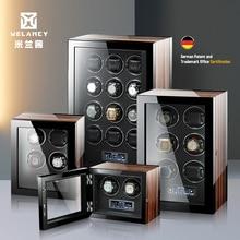 High-End Watch Winder Box Auto 2 4 6 9 12 24 Mechanical Watches Wood Mabuchi Motor LCD Touch Screen