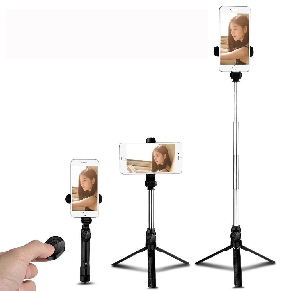 Bluetooth Selfie Stick Tripod Mini Monopod Wireless with Button for Iphone Android