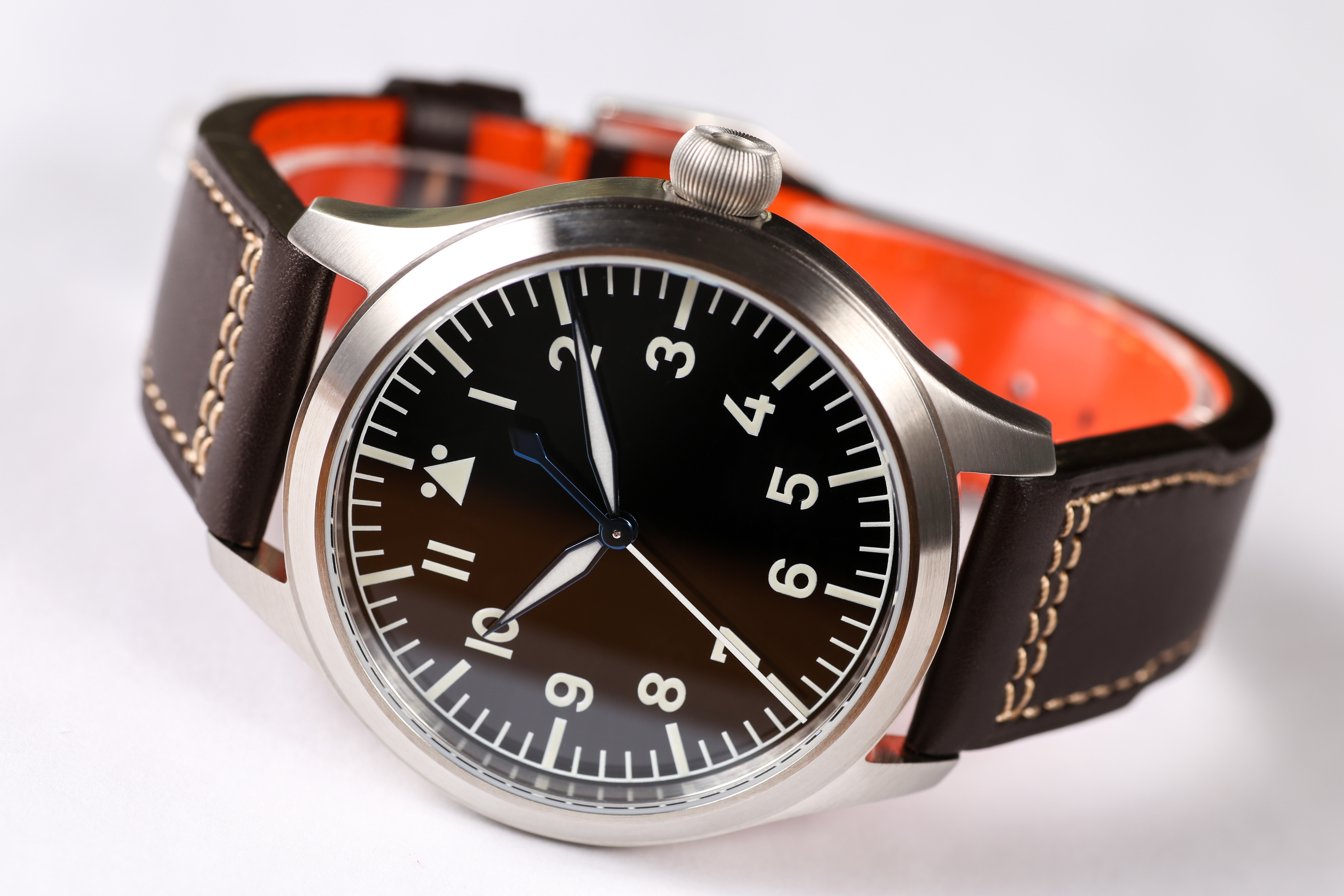 【Escapement Time】Automatic PT5000 Movement Pilot Watch with Type-B or Type-A Black Dial and 42mm