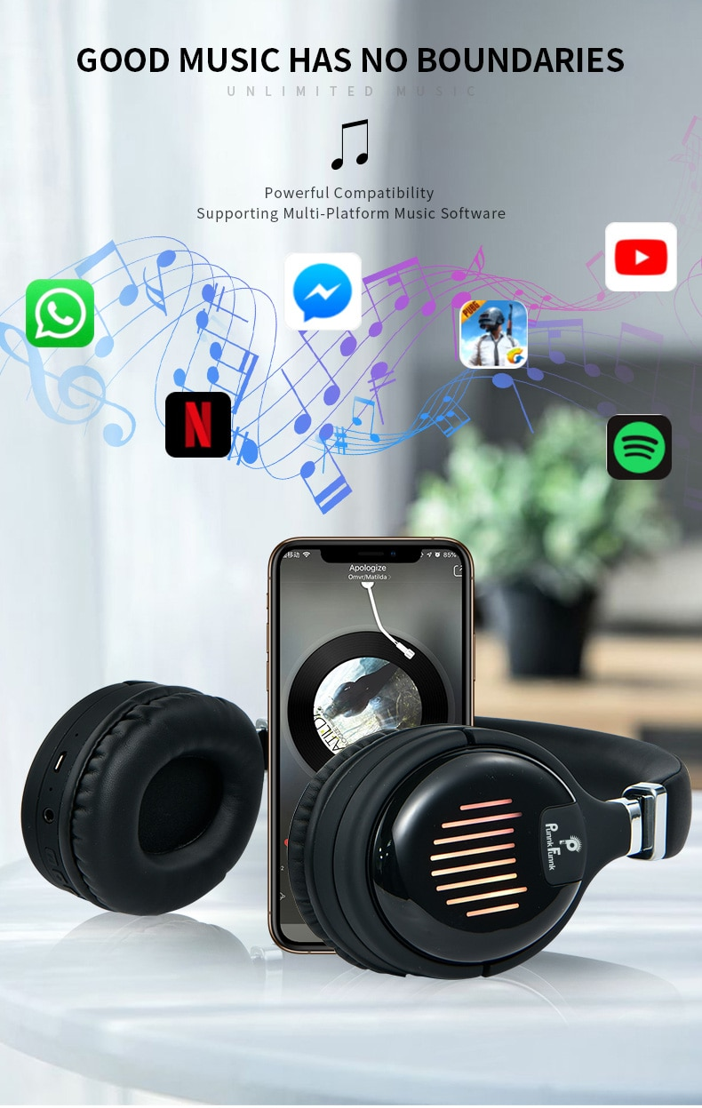 Deep Bass Wireless Headphones  Bluetooth Earphones Foldable Noise Reduction Gaming Wired  Headsets  With Mic FM MP3  Bag Case enlarge