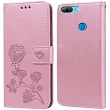 Luxury Leather Flip Book Case for Huawei Honor 9 Lite 9i 9N Honor9 Rose Flower Wallet Stand Card Hol