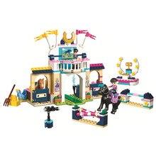 Friends Stephanie's Horse Jumping Stephanie Zack Building Blocks Kit Bricks Classic Girl Model Kids Toys For Children Gift