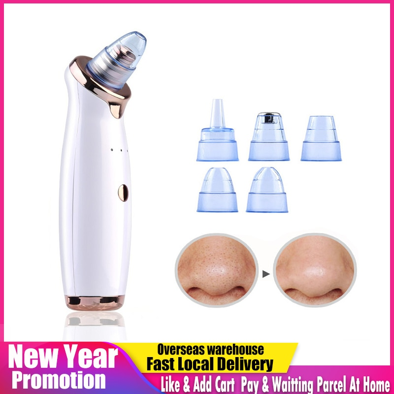 Electric Cleanser Facial Blackhead Remover Deep Cleaner Nose Pore Acne Pimple Removal Vacuum Suction Cleansing SPA Beauty Tool