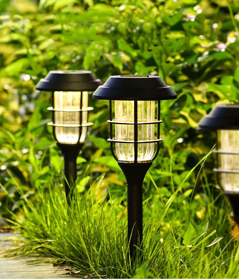 Solar light LED Striped Lawn Light Outdoor Waterproof Garden Garden Park Path Corridor Lawn Decorative Lighting 1/3 pcs