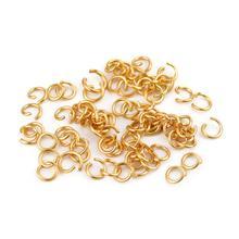 4/5/6/7/8mm en acier inoxydable anneaux fendus ouverts anneaux de saut connecteurs collier Bracelet résultats connecteur pour la fabrication de bijoux