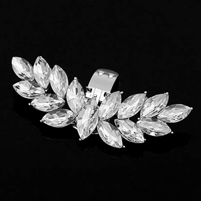Clip de zapato alas de diamantes de imitación DIY encantos mujer boda zapato de moda de mujer hebilla accesorios tacones decoración venta al por mayor y envío directo