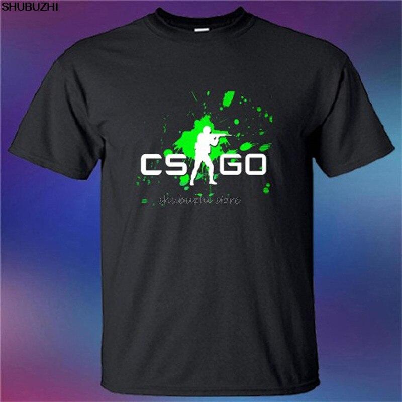 Nouveau contre-grève Global Offensive CSGO Logo hommes T-Shirt noir taille S-5XL à manches courtes impression lettres manches T-Shirt sbz4411