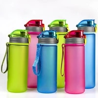 1 pcs new portable fashion space water cup leakproof student outdoor sports travel plastic mug fitness drinking bottle