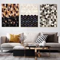 nordic modern minimalist abstract feather canvas painting luxury geometry world poster for living room picture decoration