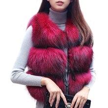 Réel fourrure de raton laveur Gilet femmes hiver véritable chien fourrure Gilet femme dames chaud en cuir veste pardessus naturel fourrure Gilet Gilet