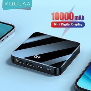 Внешний аккумулятор KUULAA на 10000 мА · ч с зеркальным аккумулятором на 10000 мА · ч