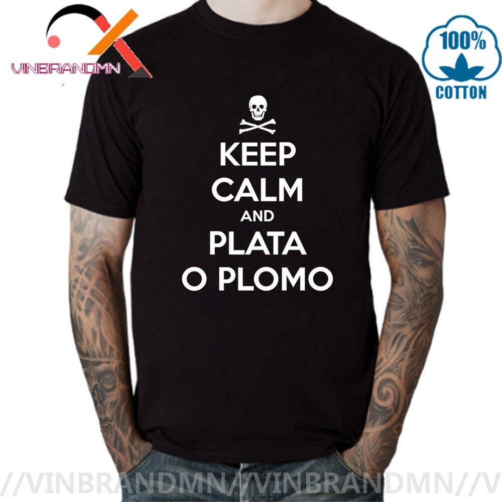 Camiseta con estampado de calavera y huesos para hombre, camisa de manga...