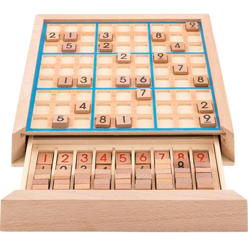 ¡Nuevo! Juguete educativo de madera con números 1 a 9, juguete para niños, juegos Iq para niños, caja de rompecabezas, juguetes de madera para niños DD6SD