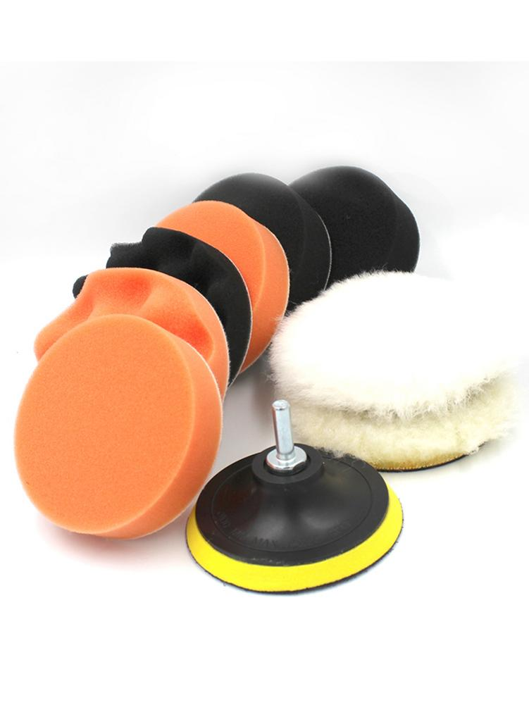 10 Uds 4 pulgadas de abrillantado para coche disco para M10 herramientas de roscado juego de almohadillas para pulir coches esponja pulidora de pastillas de pulido y encerado de cuidado