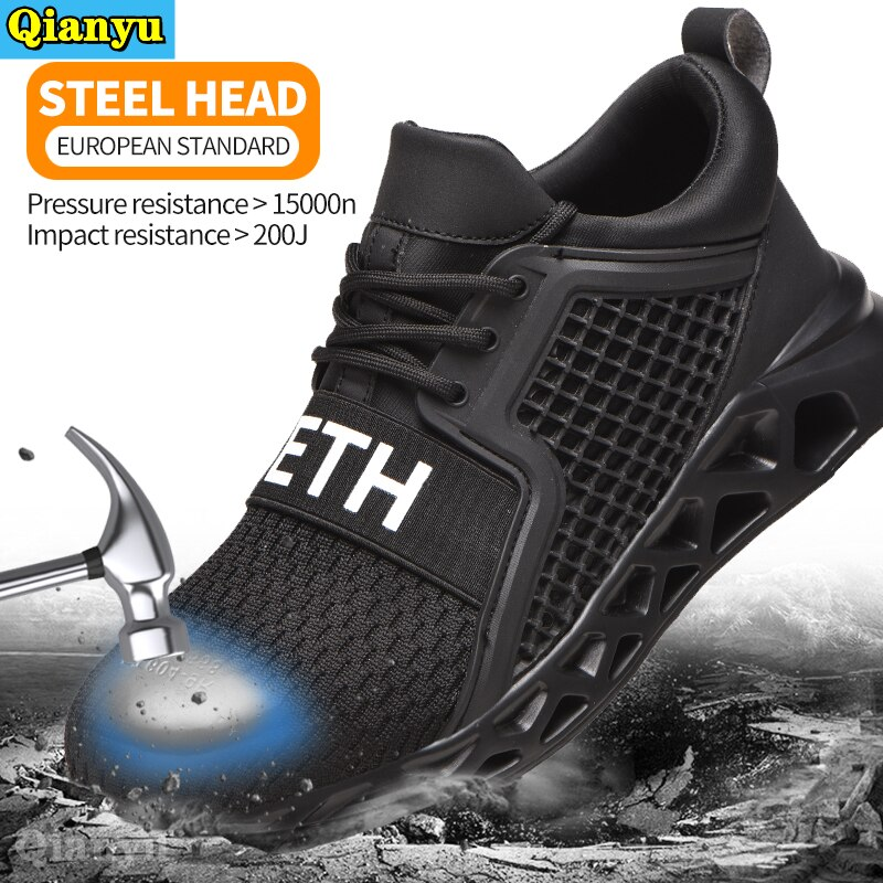 2021 Men Women Safety Shoes Indestructible Work Sneakers Anti-Puncture Anti-Smash Work Shoes Protect