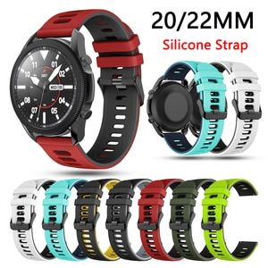 22 20mm Silicone Watch Strap for Huami Amazfit GTS GTR 42mm/47mm Bracelet For Samsung galaxy watch 3 45mm/huawei gt 2 Watch Band