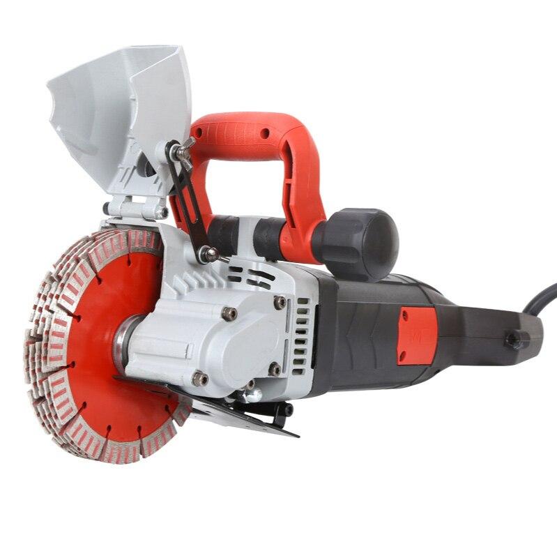 Máquina de Corte Concreta de Aço da Máquina de Entalho da Parede do Sulco do Chaser da Parede Chaser da Parede Elétrica 160 220v 5800w do
