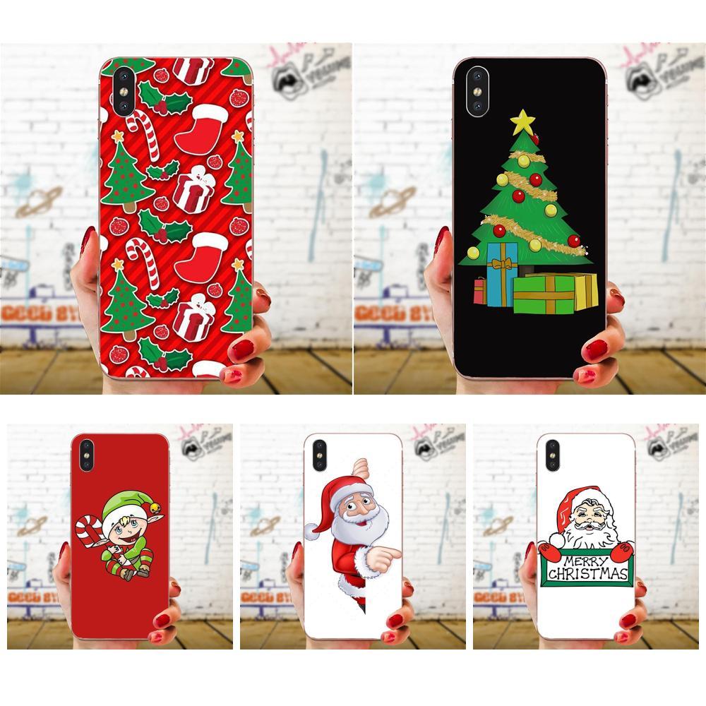 Capa suave colorida Feliz Navidad para Xiaomi Redmi 3 3S 4 4A 4X 5 6 6A 7 K20 Note 2 3 4 5 5A 6 7 Plus Pro