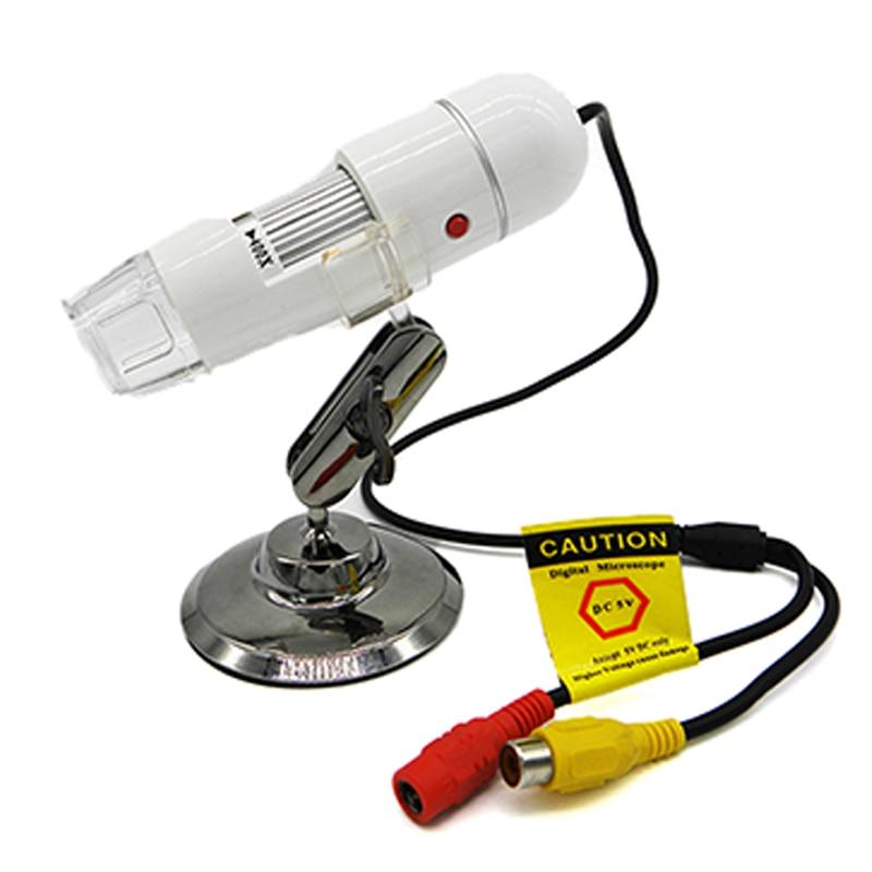 400X-1000X microscopio USB profesional Coms Sensor TV/AV interfaz microscopio Digital para electrónica con 8 ledes soporte