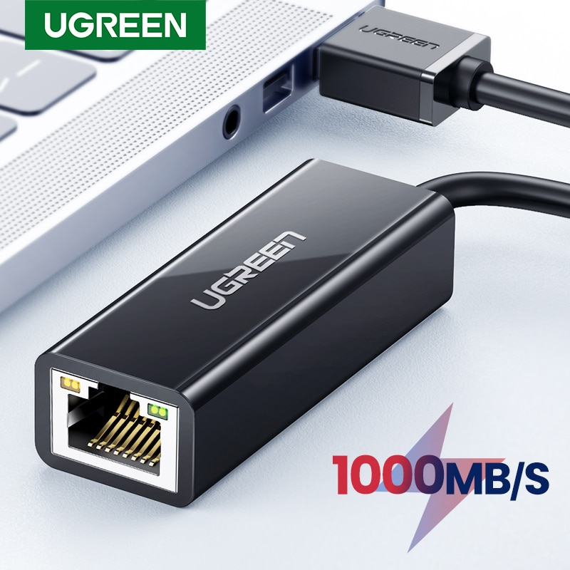 Ugreen USB 3.0 Ethernet Adapter USB 2.0 Network Card to RJ45 Lan for PC Windows 10 Xiaomi Mi Box 3/S