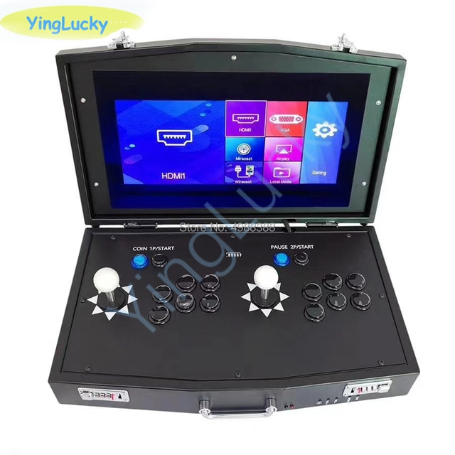 Новый оригинальный мини джойстик Pandora Box DX 3000 в 1, аркадный джойстик с поддержкой 2 игроков, компьютерные Проекторы fba mame ps1, есть 3D игры