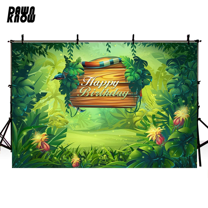 DAWNKNOW Forest Vinyl Photography Background For Newborn Photo Shoot Backdrop For Happy Birthday Party Photo Studio G701