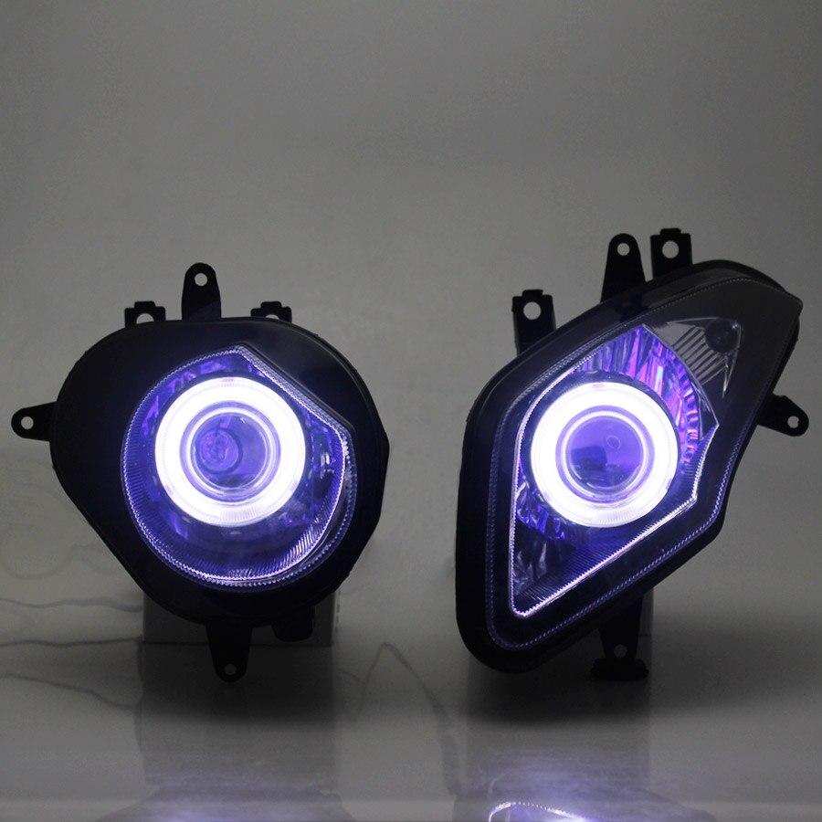دراجة نارية التجمع الكامل HID ثنائية زينون المصباح العارض شيطان و عيون الملاك مرحبا/منخفضة مصابيح لسيارة BMW S1000RR S1000RR 2009-2014