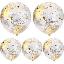 Воздушные шары с утолщённой меховой опушкой, Decoración 5 шт. 30 40 50th с днем рождения конфетти с цифрами возраста заполненные воздушные шары для свадьбы вечеринки украшение для дома