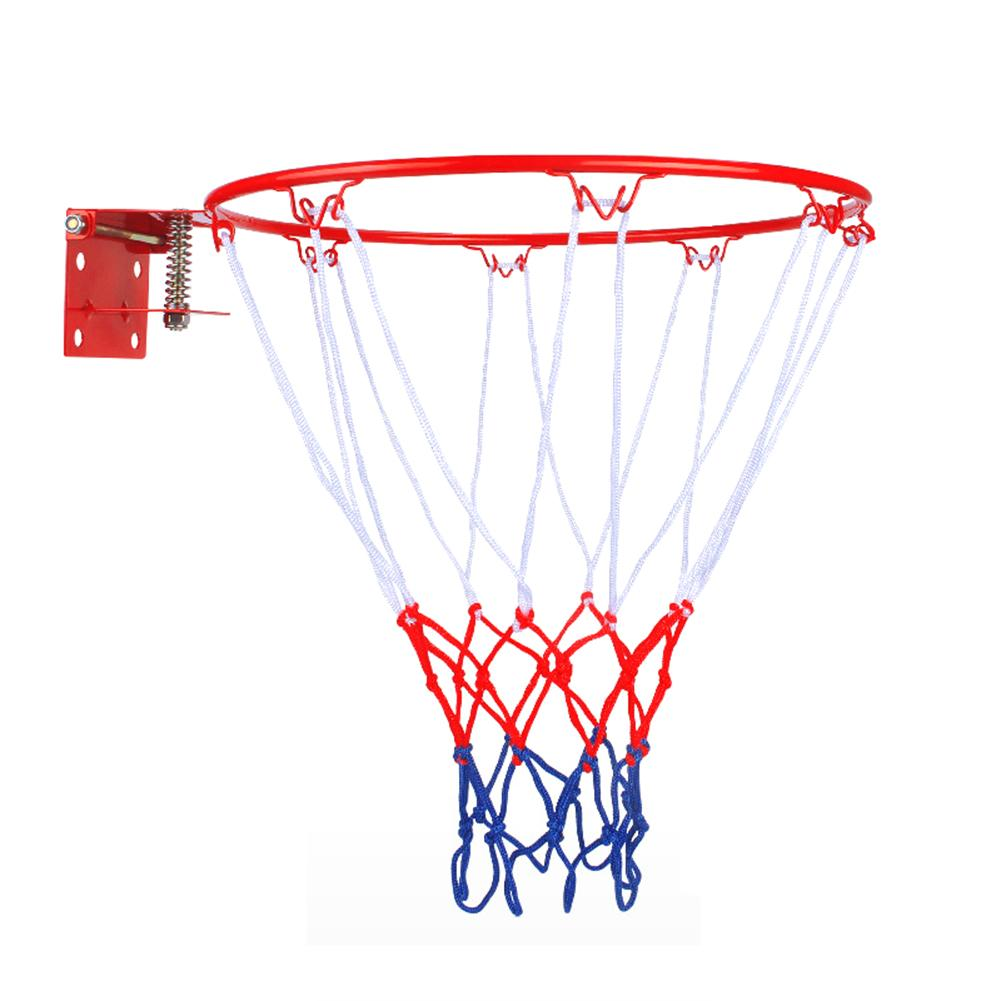 Childrens Solid Basketball Frame Spring Basketball Ring Kindergarten Basket Frame Wall-mounted Ring For Indoor And Outdoor