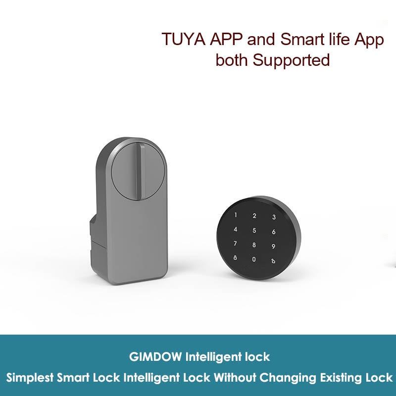 Умные двери GIMDOW Tuya с паролем, Электрический Гостиничный Bluetooth-сейф для квартиры, цифровой шкафчик безопасности для Tuya Smart