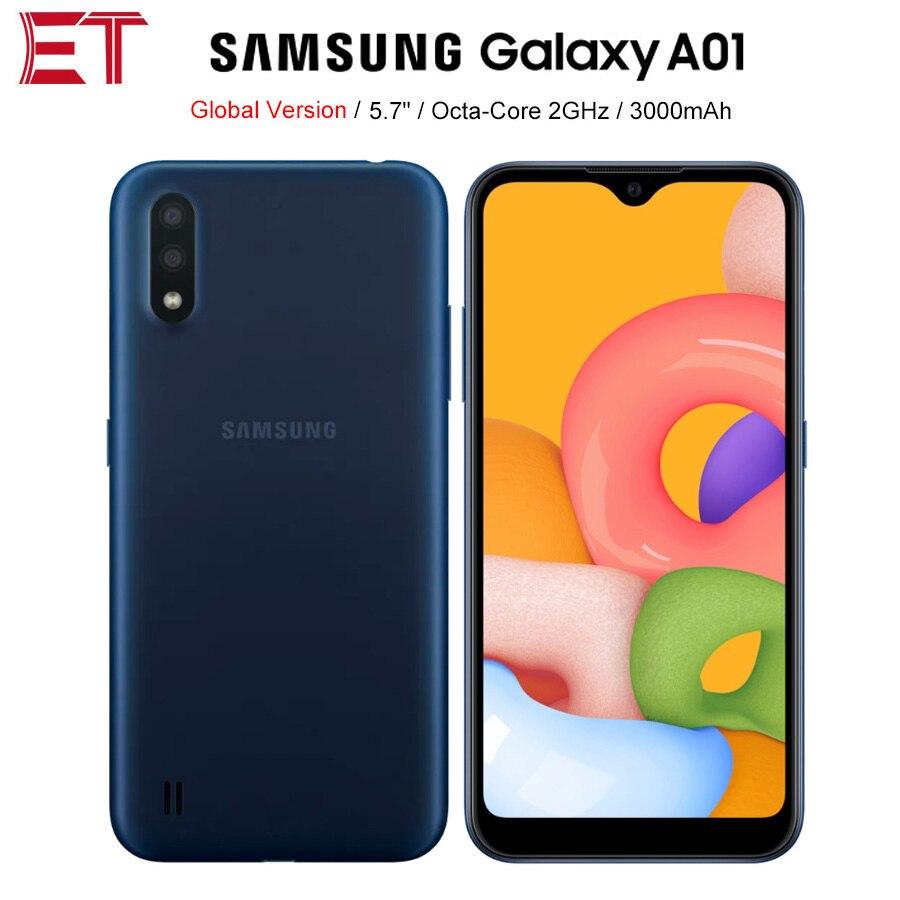Перейти на Алиэкспресс и купить Смартфон Samsung Galaxy A01, телефон с экраном 5,7 дюйма, 1 ГБ ОЗУ 16 Гб ПЗУ, Восьмиядерный процессор, Android 10, две SIM-карты, аккумулятор 3000 мАч