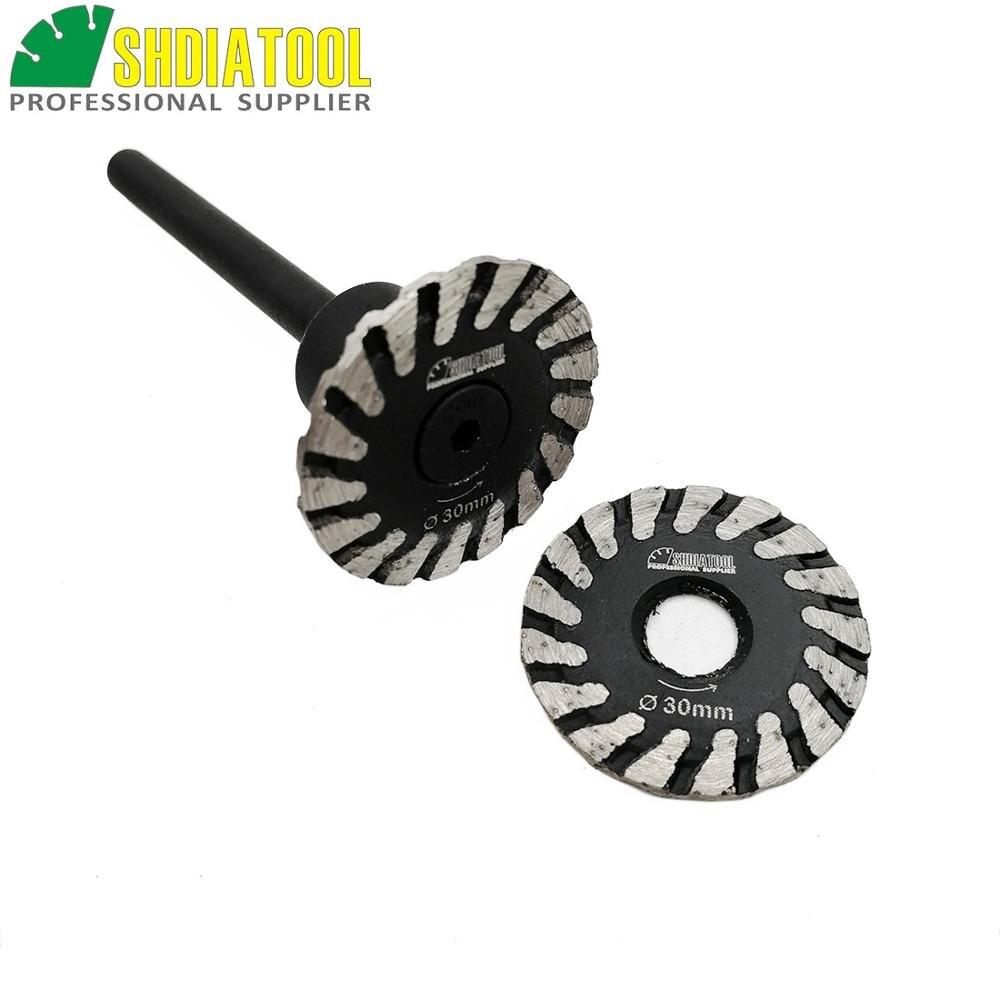 1 mini cuchilla SHDIATOOL con vástago extraíble de 6mm y 1 mini disco de corte de cuchilla sin vástago extraíble de 6mm