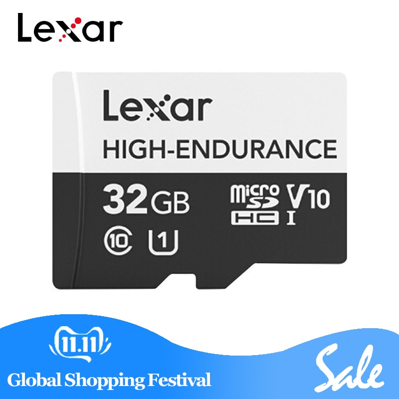 Lexar tarjeta Micro SD de alta resistencia 667x32 GB 64GB SDXC UHS-II tarjeta de memoria 100 MB/S TF unidad Flash para cámara