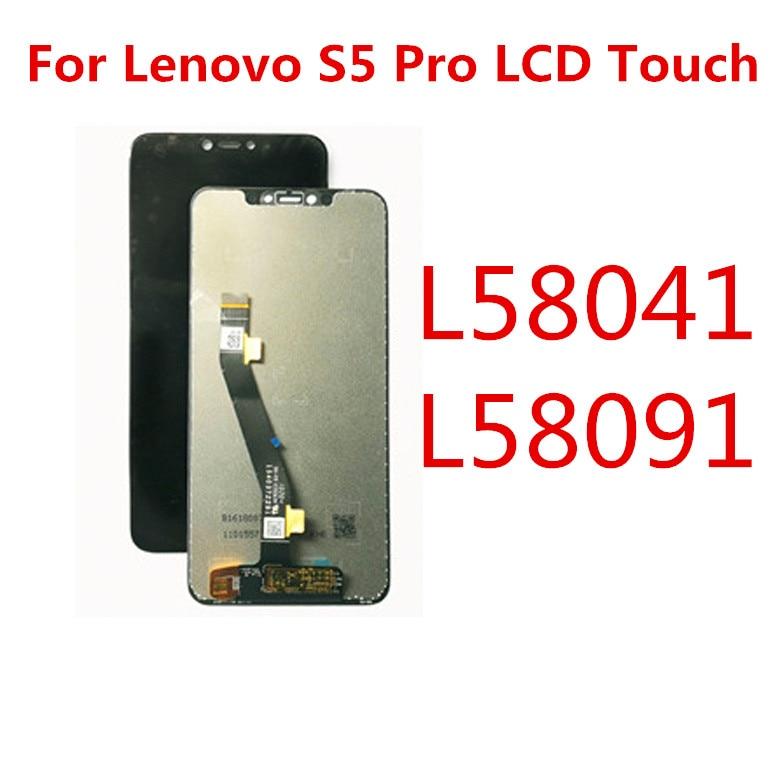 LCD لينوفو S5 الموالية عرض تعمل باللمس استبدال لينوفو S5 برو GT L58041 L58091 LCD عرض