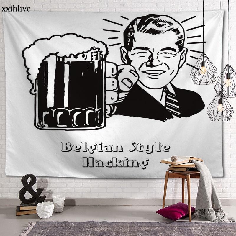 Художественный гобелен на заказ в стиле Октоберфест для пива, богемный настенный комнатный ковер, HD гобелены, художественные аксессуары дл...