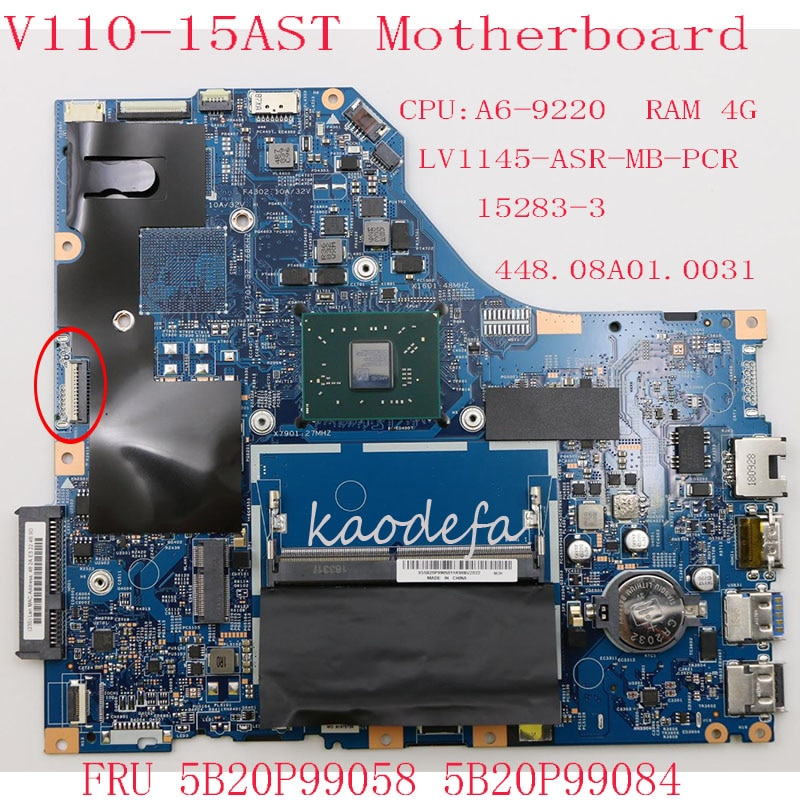 80TD ل V110-15AST اللوحة اللوحة 5B20P99058 5B20P99084 LV1145-ASR-MB-PCR 15283-3 448.08A01.0031 وحدة المعالجة المركزية: A6-9220 RAM: 4G