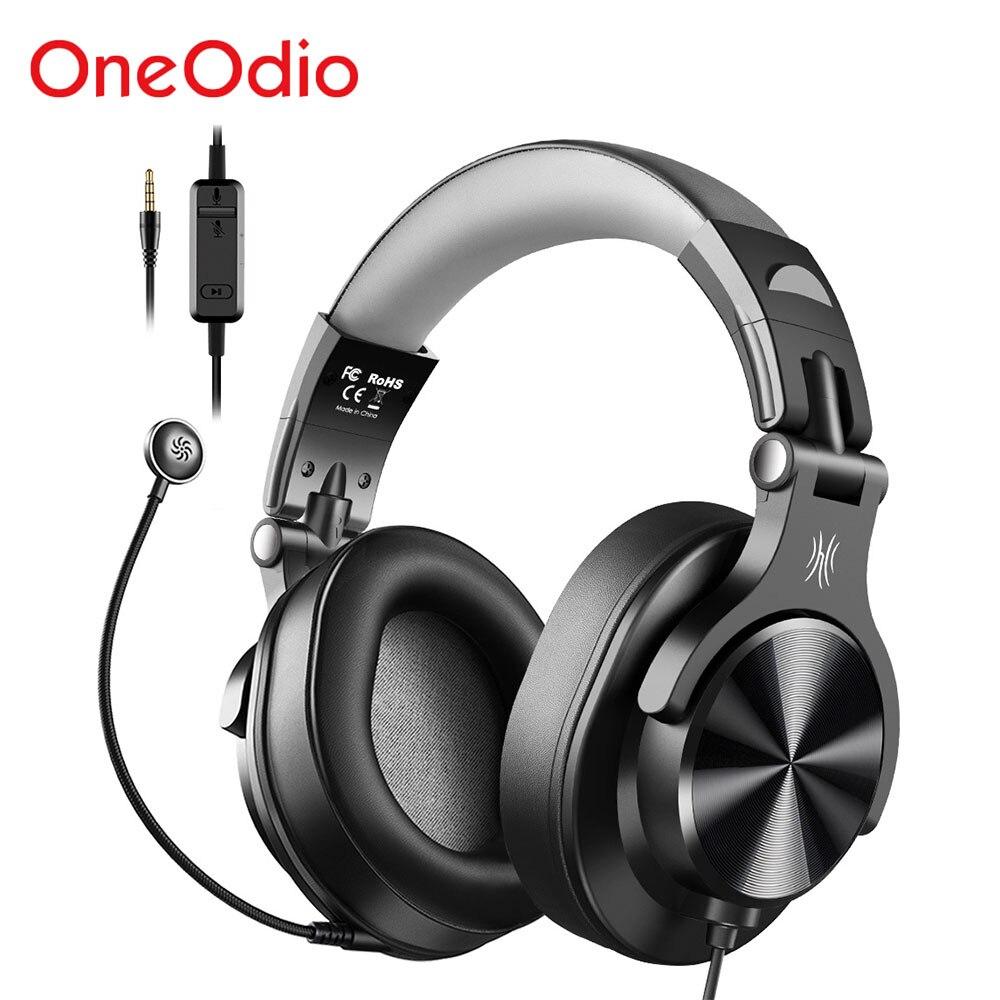 Oneodio A71D السلكية الألعاب سماعات الإفراط في الأذن ستيريو سماعة ألعاب مع انفصال ميكروفون ل مركز الدعوة PC PS4 الهاتف