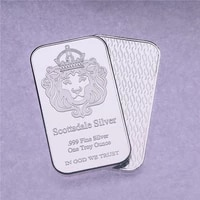 america scottsdale silver bar bullion 1oz brass plated silver non magnetic souvenir coincollection crafts gift